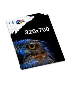 Lose Blattsammlung 320x700mm