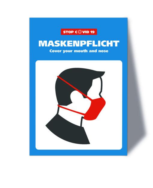 Corona Hinweisschild - Maskenpflicht